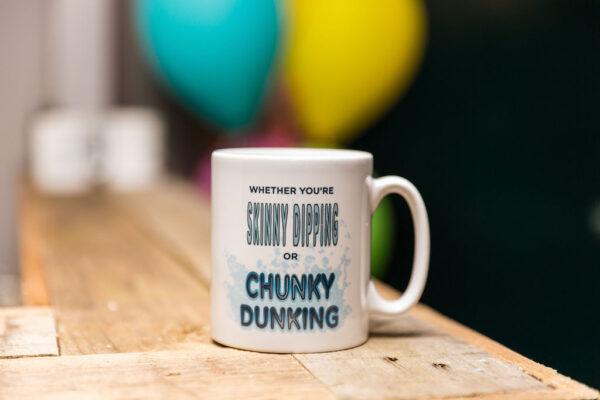 Mug with writing on