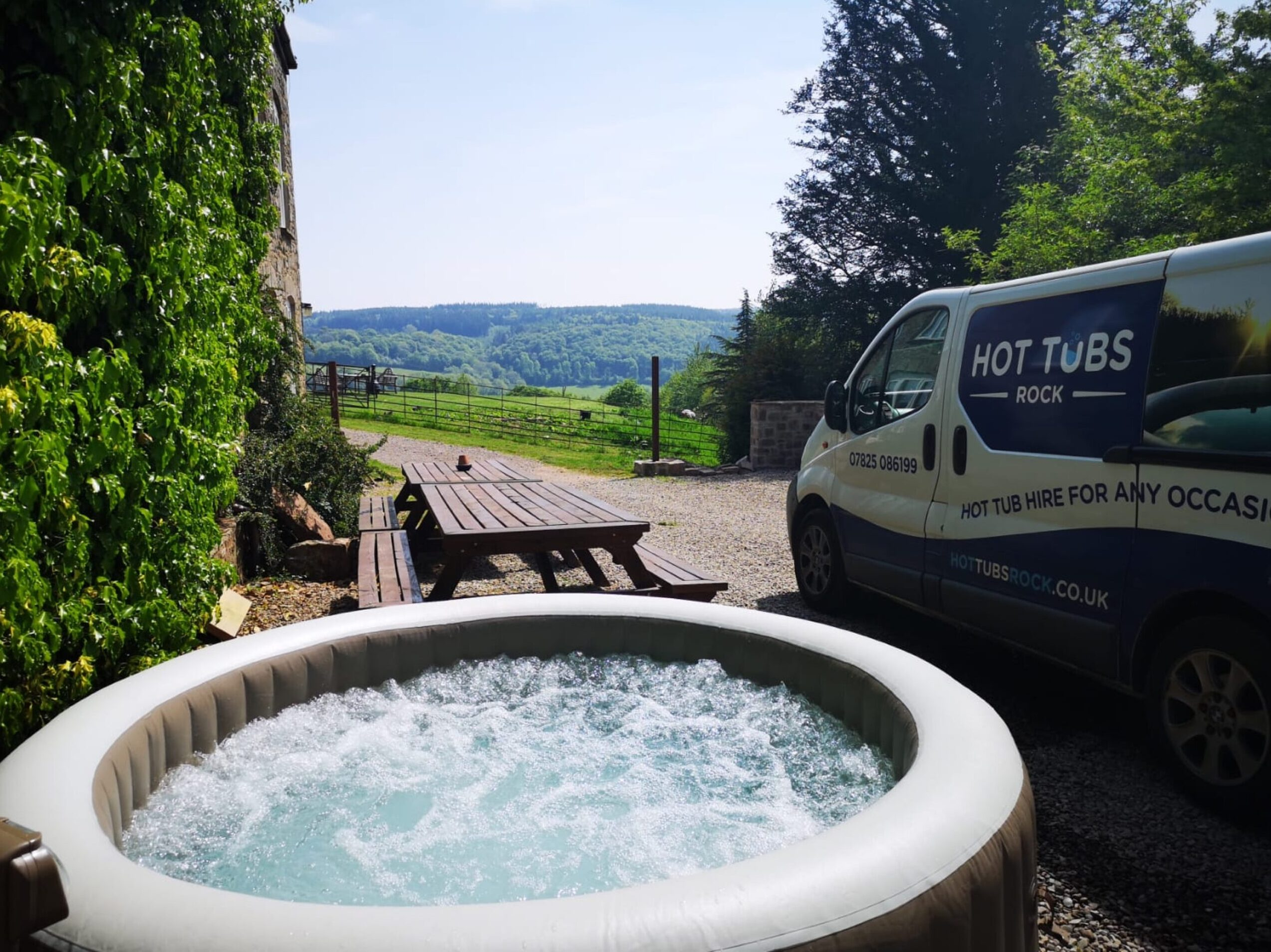 Inflatable hot tub and Hot Tubs Rock van